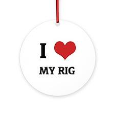 MY RIG Round Ornament
