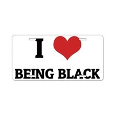 BEING BLACK Aluminum License Plate