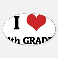 4th GRADE Sticker (Oval)