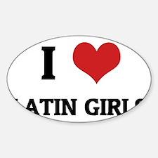 LATIN GIRLS Sticker (Oval)