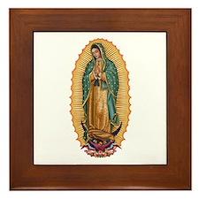 La Guadalupana Framed Tile