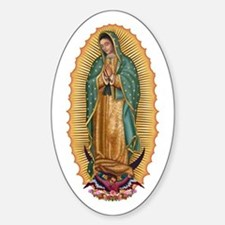 La Guadalupana Sticker (Oval)