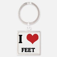 FEET Square Keychain