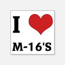 "M-16S Square Sticker 3"" x 3"""