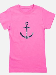 Grungy Anchor Girl's Tee