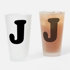 LetterJ Drinking Glass