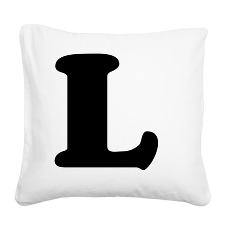 LetterL Square Canvas Pillow