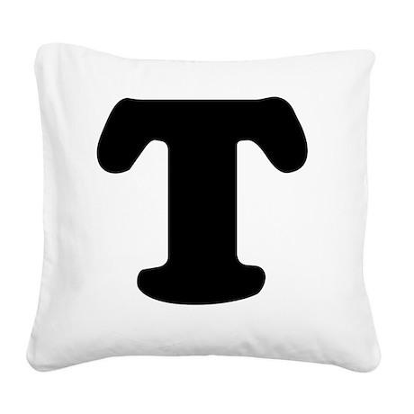 LetterT Square Canvas Pillow