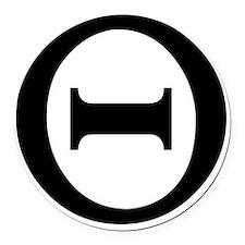 theta Round Car Magnet