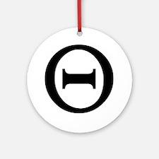 theta Round Ornament