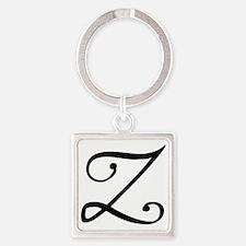 InitialZ Square Keychain