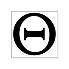 "theta Square Sticker 3"" x 3"""