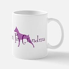 Min Pin Grandma Mug