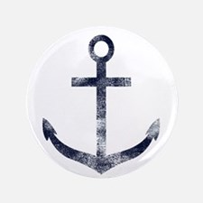 """Grungy Anchor 3.5"""" Button"""