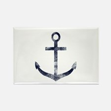 Grungy Anchor Rectangle Magnet (100 pack)