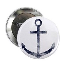 """Grungy Anchor 2.25"""" Button (10 pack)"""