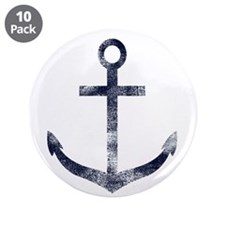"""Grungy Anchor 3.5"""" Button (10 pack)"""
