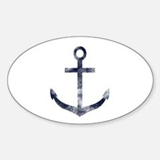 Grungy Anchor Decal