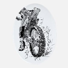 Motor Cross Oval Ornament