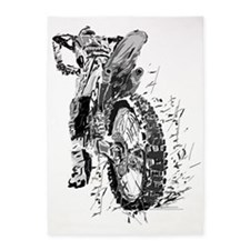 Motor Cross 5'x7'Area Rug