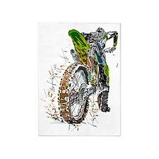 Motorcross 5'x7'Area Rug