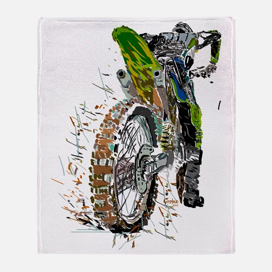 Motorcross Throw Blanket