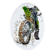 Motorcross Oval Ornament