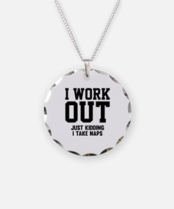I Work Out Necklace