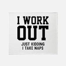 I Work Out Stadium Blanket