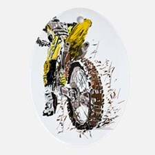 Motorcross Oval Ornament