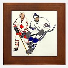 Ice Hockey Framed Tile