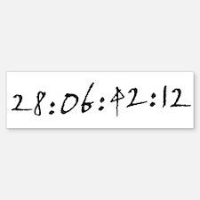 28:06:42:12 Bumper Bumper Bumper Sticker