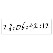 28:06:42:12 Bumper Bumper Sticker