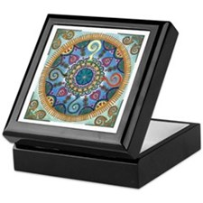Mexican Serpent Mandala Keepsake Box