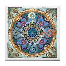Mexican Serpent Mandala Tile Coaster