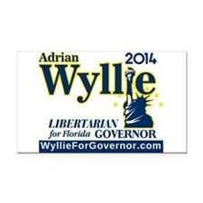 Adrian Wyllie Rectangle Car Magnet