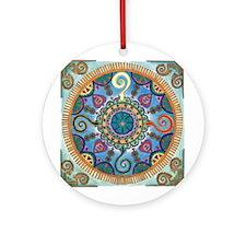 Mexican Serpent Mandala Ornament (Round)
