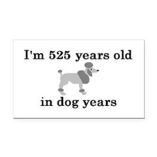 75 birthday dog years poodle 2 Rectangle Car Magne