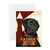 Black lab dog Greeting Cards