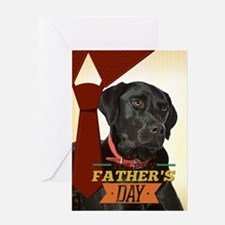 Black Lab Father's Day Card
