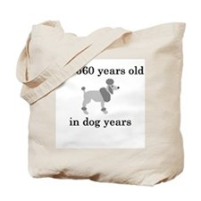 80 birthday dog years poodle Tote Bag