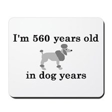 80 birthday dog years poodle 2 Mousepad