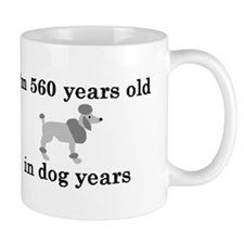 80 birthday dog years poodle 2 Mug