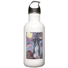 Funny Border collie Water Bottle