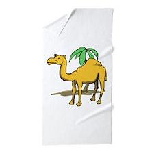 Cute camel Beach Towel