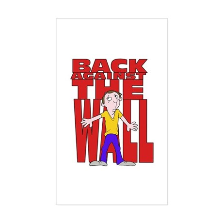 Back Against the Wall Rectangle Sticker