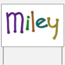 Miley Play Clay Yard Sign