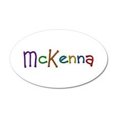 McKenna Play Clay 20x12 Oval Wall Decal