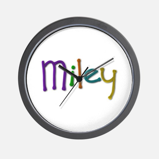 Miley Play Clay Wall Clock