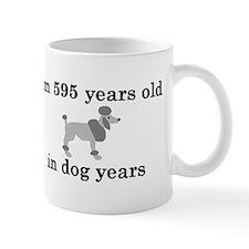 85 birthday dog years poodle 2 Mug